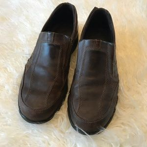 Ecco Brown leather slip on loafers